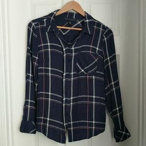 WHBM plaid blouse